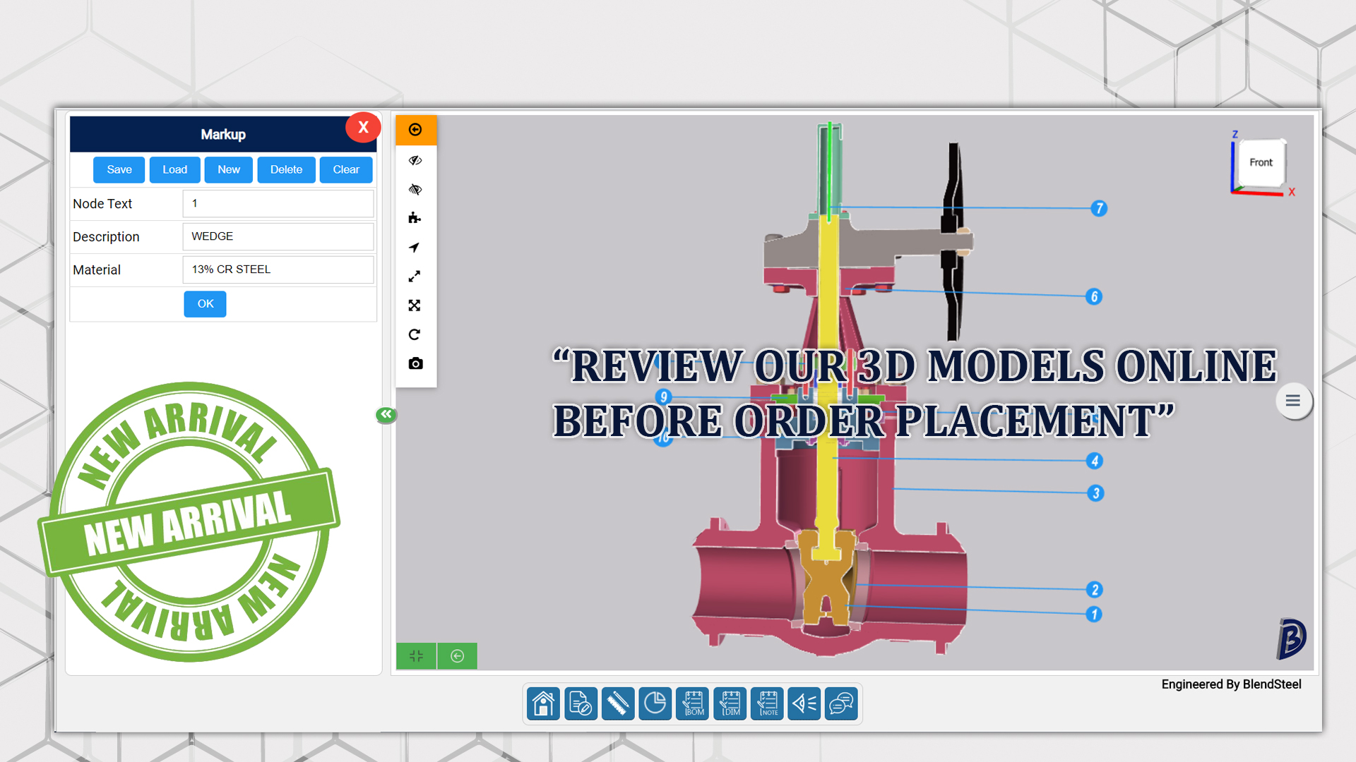 Review 3d models of our valves